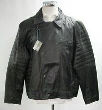 Da Uomo Nuovo Nero Vera Pelle Giacca Biker Moto autentica Soft Top Vintage