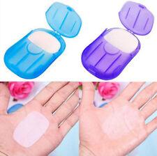 20Pcs Travel Portable Anti-Bacterial Clean Paper Soap Popularity Small Case XIAC