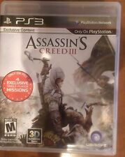 Assassin's Creed III  (Sony Playstation 3, 2012)