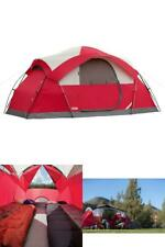 8-Person Cimarron Dome-Style Camping Tent Angled Windows Integrated Rainfly