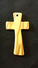 CROCE CROCEFISSO CROCIFISSO prima comunione con incisione - in legno di ulivo
