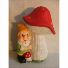 LATEX MOULD MOULDS MOLD.   GNOME BELOW A  MUSHROOM. (2017)