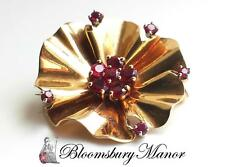 Ruby Yellow Gold Fine Brooches & Pins