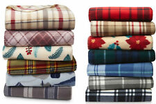 "Cannon Soft Fleece Throw Blanket 60"" X 50""  Warm Plaid Cozy Decor Gift"