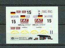 BBR Decalbogen PJ252 BMW LMP V12 Le Mans 2000 Bscher/Lees/Gounon #15 1/43
