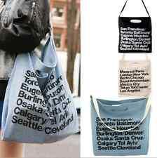 American Apparel Shopping School Bag Letters Canvas Bag AA Handbag Beach Bag