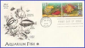 USA5 #3317 U/A PCS ARTCRAFT FDC STR2  Yellow Fish Red Fish Cleaner Shripm