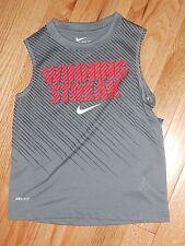 "NWT - Nike grey & neon orange ""Winning Streak"" sleeveless dri-fit shirt - 4 boys"