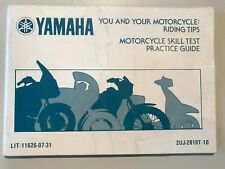 Yamaha Motorcycle Skill Test / You and your Motorcycle Rding Tips - EN