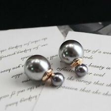 Double Sided Big Pearl Ear Stud Earrings Big Ball Earring Party Decor Jewelry