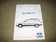 Lada 111 Prospekt Brochure von 8/2003