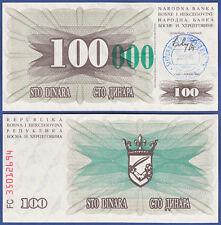 Bosnia/Bosnia 100.000 Dinara 24.12.1993 UNC p.56 C