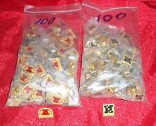 100 Each AFC & NFC Logo Pins NFL Vintage Lapel Wholesale Lot 200 Total Pins