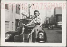 Vintage Car Photo Pretty Girl on 1940 Dodge Automobile 713809