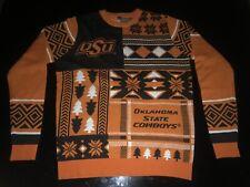 Klew OSU Busy Block Christmas Sweater XXL Oklahoma State Cowboy Ugly Sweater EUC