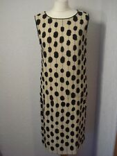 Max Mara beige silk embellished/spotted silk shift dress 8-10