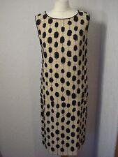 Max Mara beige silk embellished/spotted silk shift dress 8-10
