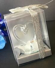 12PC-Wedding Party Favors Crystal Love Kissing Doves Decorations Recuerdos Boda
