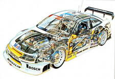 Opel Calibra 1994 DTM Keke Rosberg Cutaway promo poster