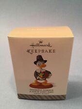 A Year Of Disney THANKFUL DONALD #4 in Series 2014 Hallmark Keepsake Ornament
