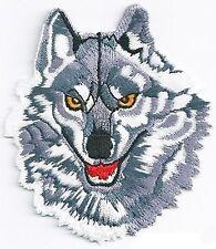 Patche écusson Huski Loup blanc thermocollant Nagapatches brodé