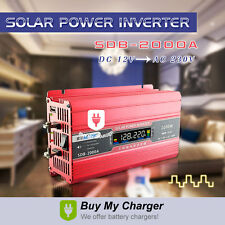 DC 12V to AC 220V 230V 2000W Solar Power Inverter W/ LCD Display/ USB charging