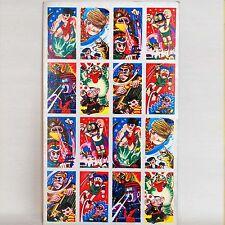 vintage uncut Menko Sheet Ninja Sasuke/Hattori/Parman.. Japan 1960s original