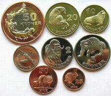 Greenland 2010 Animal Set of 8 Coins,UNC