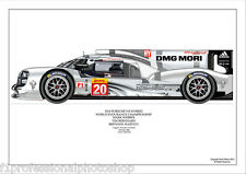2014 Porsche 919 hybrid le mans - Mark Webber ltd ed/250 art print
