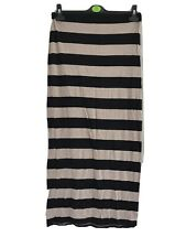 Simply Be Maxi Skirt Jersey Black And Beige Stripes 12 Short