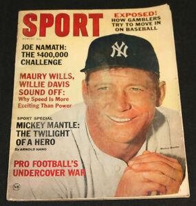 1965 Aug Sport Magazine Mickey Mantle Cover FM