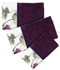 Jasmine Plum - 3-Piece Popular Bath Bathroom Pool, Hand, Wash Towel Set