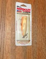 3 Bill Norman Lures 1 Plug & 2 Crankbaits VINTAGE NIP
