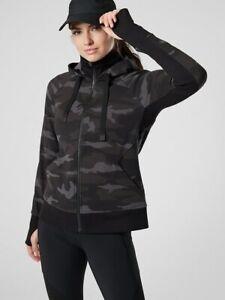 ATHLETA Triumph Printed Hoodie  M  Medium | Camo Sweatshirt Jacket  NEW