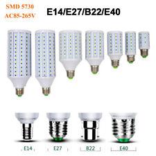E27 E14 B22 E40 LED Corn Light Bulb 40W 80W 100W Warm White Bright Lamp 85V-265V