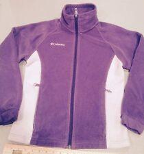 Columbia Fleece Youth 14/16 Purple Fleece Jacket Coat Zip Up Or Ladies Small
