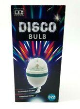 LED Spinning Color Crystal Disco Ball B22 Bayonet Cap Party  Light Bulb