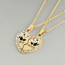 2pcs Panda Best Friends pendentif Collier coeur bijou cadeau amitié