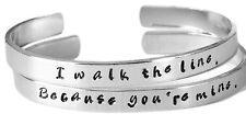 Because You're Mine I Walk The Line Aluminum Bangle Bracelet Set - Johnny Cash