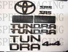 FOR 2014-2019 Toyota Tundra Matte Black Out Emblem Badges tailgate 14 Piece Kit