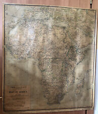 1928 mappa AFRICA italia Flotte Riunite -ediz. propaganda LLOYD TRIESTINO 97x86c