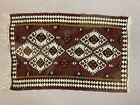 Small Vintage Turkish Kilim 98x63 cm Wool Kelim Rug Red Blue Black