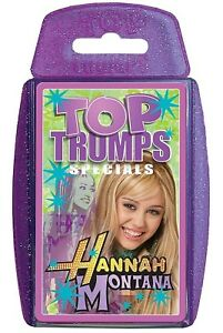 HANNAH MONTANA (MILEY CYRUS) TOP TRUMPS SPECIALS NEW AND SEALED