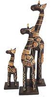 Giraffe 3 er Giraffenset 40/30/20 cm Holzgiraffe Giraffen Tierfigur Dekofigur 2