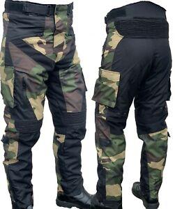 Motorradhose mit Protektoren Herren Textil Camouflage Motorrad CROSS Hose URBAN