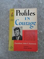 John F Kennedy Profiles in Courage Paperback Book 1963 gc238 Complete JFK