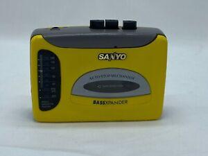SANYO WALKMAN Yellow Radio Cassette Player - VIP-30