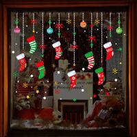 Christmas Snowflake Santa Claus Window Wall Sticker Decal Home Xmas Decor Sanwoo