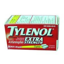 Tylenol Acetaminophen, Extra Strength, 500 mg, Caplets, 24 Each