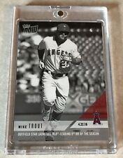 2018 TOPPS NOW #116BW MIKE TROUT PLATINUM MEMBER ONLY B/W 1/1